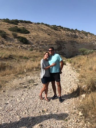 Jon and I in the Valley of Elah where David slew Goliath