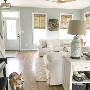 Living Simply- An Organized Family Room